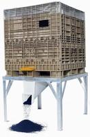 Hopper Bottom Container stores/dispenses small, dense items.