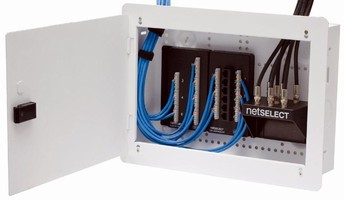 Structured Wiring System minimizes contractor/builder needs.