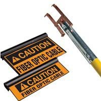 Markers clearly and safely identify elevated cable runs.