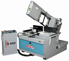 Semi-Automatic Band Saw is designed for production work.