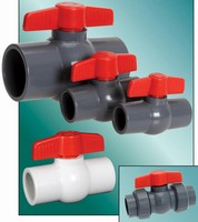 Compact Ball Valves feature all-plastic design.