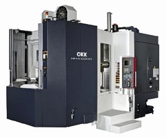 Horizontal Machining Center handles components up to 650 kg.