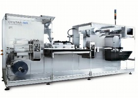 Blister Machine provides output speed of 300 blisters/min.