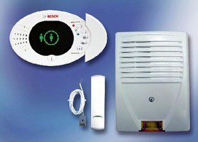 Alarm Panel provides security against unauthorized entry.