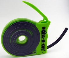 High-Visibility Dispenser stores and cuts magnetic tape.