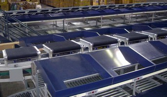 Cross-Belt Sorter handles products weighing up to 100 lb.