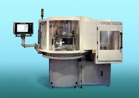 Grinding Machine features robot automatic loading system.