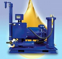 Oil Conditioning System removes water and contaminants.