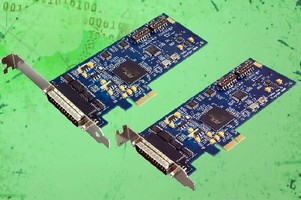 PCIe Serial Interface Adapter adds two RS-232/422/485 ports.