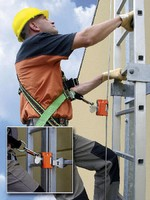 Kits provide fall protection when climbing fixed ladders.