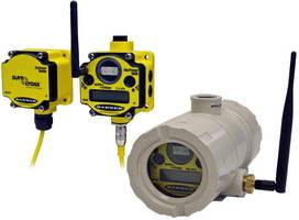 Wireless Transceiver has intrinsically safe power source.