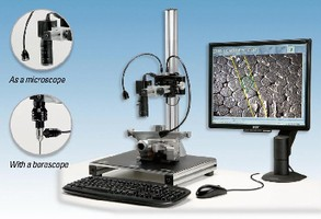 Video Microscope speeds repetitive inspections.