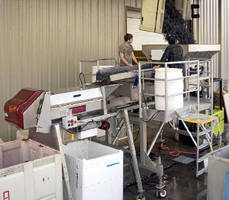 Receiving/Inspection Platform meets needs of wineries.