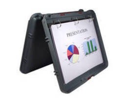 Portable Plastic Desktop enables on-the-fly presentations.