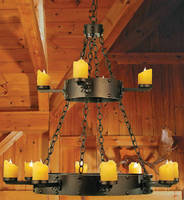 Chandelier lends gothic look to hospitality interiors.