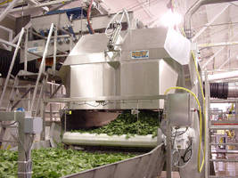 Auto Dryer removes moisture from fresh-cut produce.
