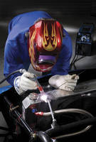 TIG Welder handles steel, stainless steel, and aluminum.
