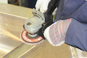 Ceramic Flap Disc cuts stainless steel, inconel, and titanium.