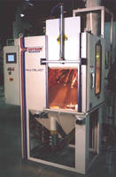 Work Cell Bead Blasting Machine offers automated operation.