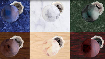 Screw Covers add marble finish appearance to fasteners.