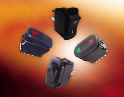 Rocker Switches feature water-resistant design.