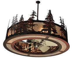 Lighting Fixture integrates fan mechanism.