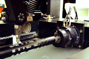 Waterjet Machining Center offers Rotary Axis accessory.