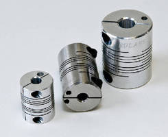 Flexible Beam Couplings clamp with single screw on each end.