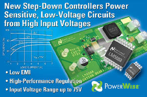 Step-Down Controllers provide input range up to 75 V.