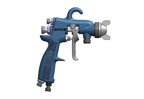 Spray Gun features maximum delivery air nozzles.