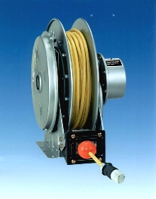 Electrical Cable Reel features compact frame.