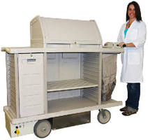 Powered Housekeeping Cart eliminates strains.