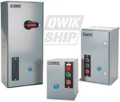 Enclosed Motor Starters cover applications to 250 hp.