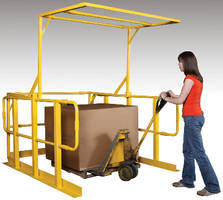 Pivoting Safety Gate promotes forklift loading safety.