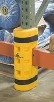 Protective System absorbs impacts to pallet racking system.