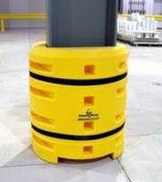 Extra-Large Column Protector guards against forklift impact.