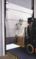 Cold Storage Dock Door withstands impacts from lift trucks.