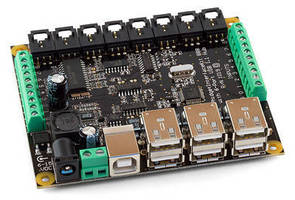 Interface Kit features integrated 6-port USB hub.