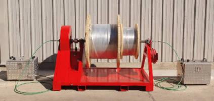 Pneumatic Spooling Unit handles 2 control lines.