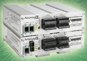 Ethernet I/O Modules link analog sensors to control network.