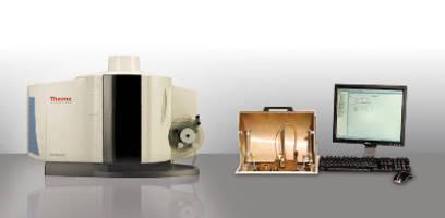 Spectrometer analyzes impurities in solid metallic samples.