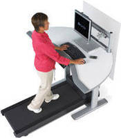 Workstation with Treadmill promotes productivity and health.