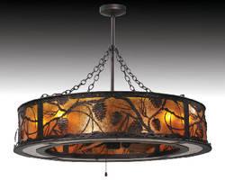 Lighting Fixture integrates fan mechanism.