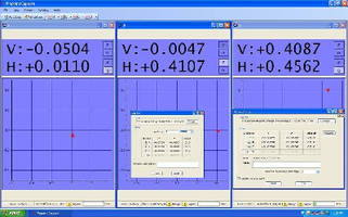 Software records measuring and alignment results.