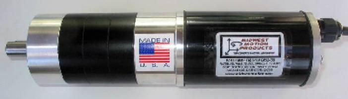 Reversible DC Gearmotor develops 60 lb-in. torque at 78 rpm.