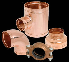Grooved Copper System only requires wrench for installation.