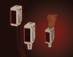 Mini Photoelectric Sensors offer pushbutton programming.