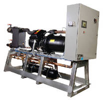 Central Chillers use compact rotary screw compressors.