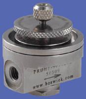 Diaphragm Pressure Regulators have single-stage design.