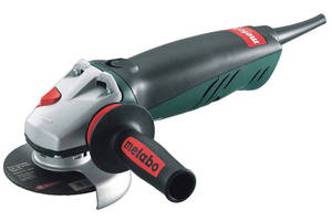Angle Grinder handles granite, marble, concrete, and metal.